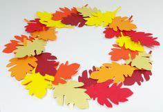 Herbstlaub Basteln Blaetter Deko Aus Papier by Herbst Deko Dekoration Basteln Papier Bl 228 Tterkranz
