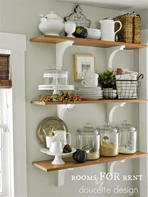 kitchen shelf ideas open shelves in the kitchen grey owl by benjamin