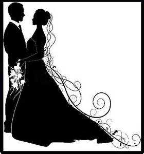 Black Bride and Groom Silhouette