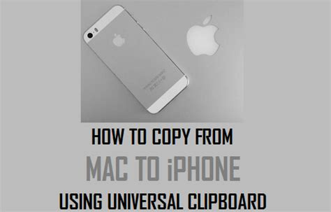 how to transfer photos from mac to iphone how to copy from mac to iphone using universal clipboard