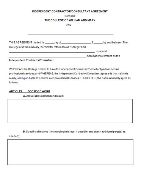 It Consultant Contract Template by 12 Consultant Contract Templates Free Word Pdf
