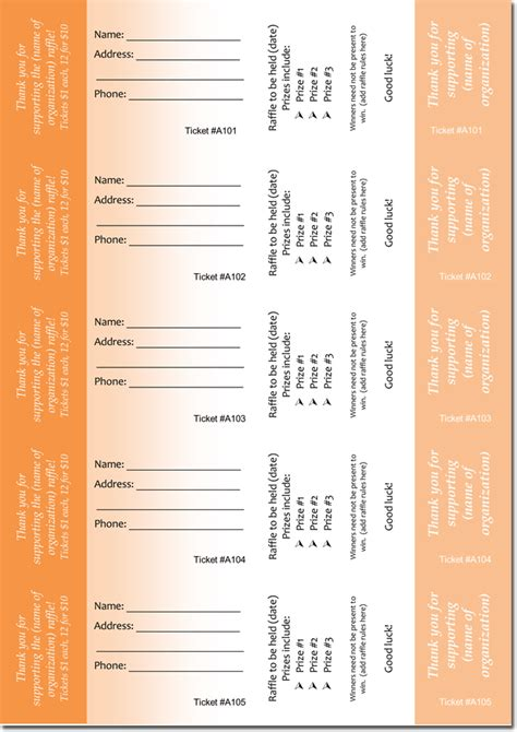 Ticket Template Microsoft Word 2007 by 20 Free Raffle Ticket Templates With Automate Ticket