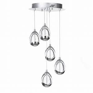 Bulla light led spiral cluster ceiling pendant