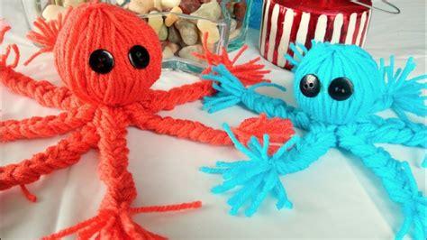 easy yarn crafts  kids     yarn octopus