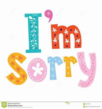 Sorry Clipart Im Lettering Clip Type Decorative