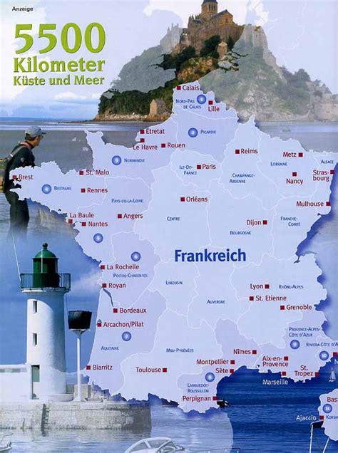 frankreich ein land  meer  atlantik und  mittelmeer
