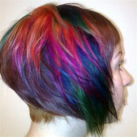 multi hair color multi colored hair hair colors ideas