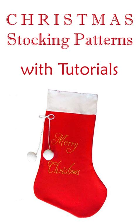 10 Christmas Stocking Patterns with Tutorials