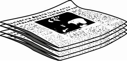 Journal Clip Newspaper Clipart Vector Svg Clker