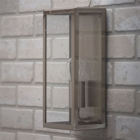 mersey outdoor lantern wall light stainless steel
