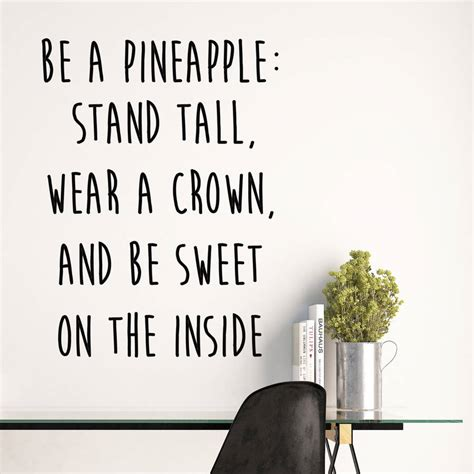 be a be a pineapple quote wall stickers by parkins interiors