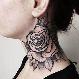 Rosen Tattoos Schwarz : die besten 25 hals tattoos ideen auf pinterest halstattoo rose seitenhals tattoo und ~ Frokenaadalensverden.com Haus und Dekorationen