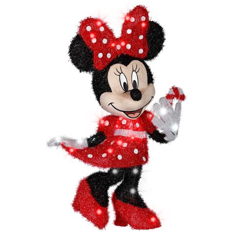 shop gemmy 2 56 ft minnie mouse outdoor decoration at lowes - Minnie Mouse Christmas Decorations