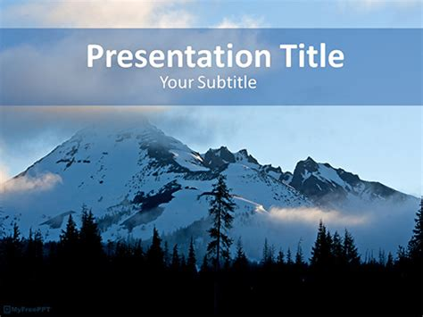 snow mountain powerpoint template