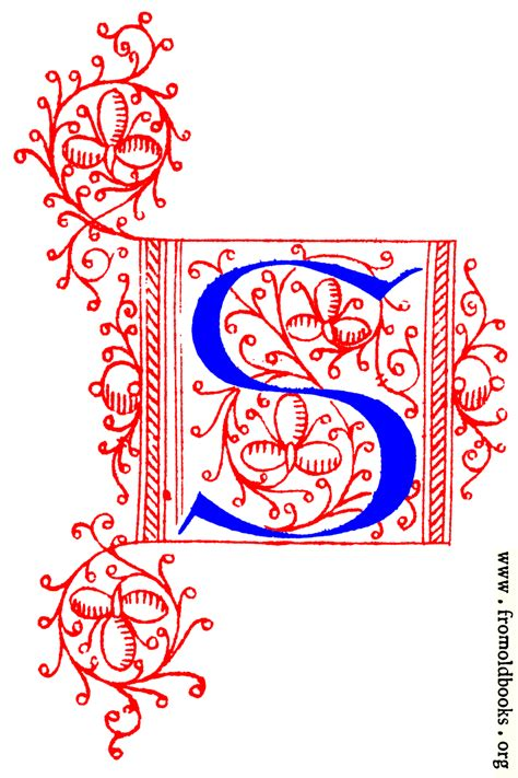 decorative initial letter   fifteenth century nos