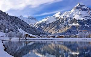Snow Mountain Lake Landscape