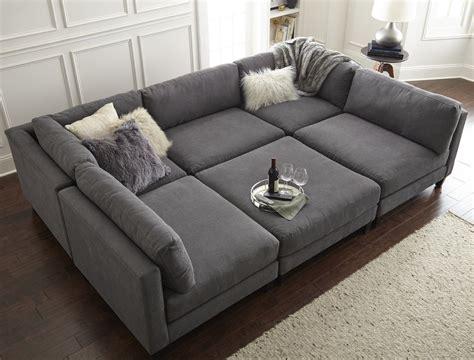 u shaped with ottoman home by catherine lowe chelsea modular sectional