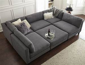 Home by sean catherine lowe chelsea modular sectional for The pit sectional sofa