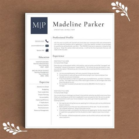 Free Resume Templates For Pages by Professional Resume Template For Word Pages 1 2 And 3