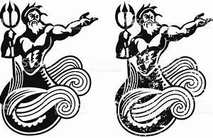 Neptune King Of The Sea stock vector art 165789348   iStock