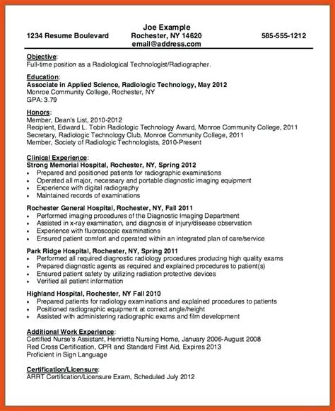 ultrasound technologist resume examples