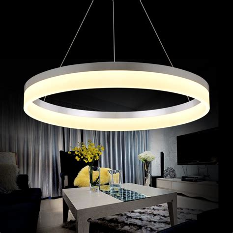 modern led ring chandelier light arcylic led chandelier