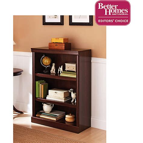better homes and gardens bookshelf better homes and gardens ashwood road 3 shelf bookcase