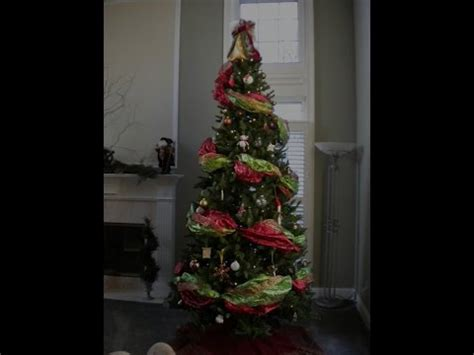 how to decorate a tree with mesh ribbon how to decorate the tree using wide ribbon garland