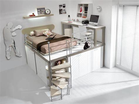 chambre fille lit mezzanine lit enfant mezzanine avec bureau