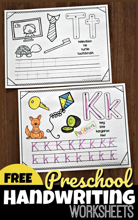 preschool handwriting worksheets  images alphabet