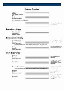 resume forms printable blank ms word fill in online free With blank resume template printable