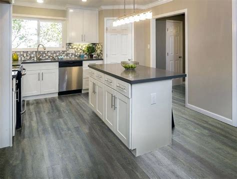white kitchen gray floor vinyl wood plank flooring grey gurus floor 1379