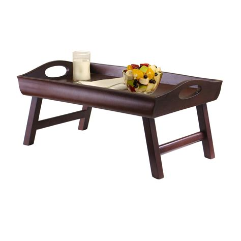 tray table for bed winsome wood sedona bed tray curved side