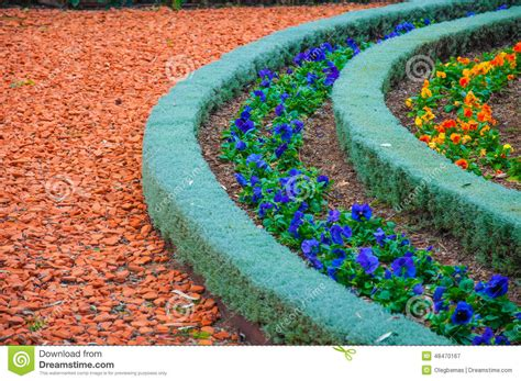 Types Of Landscaping And Decorations Garden Paths Stock