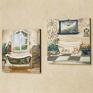 salle de bain bathroom wall art set With artwork for bathroom walls