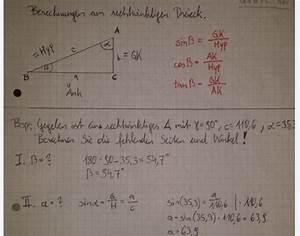 Rechtwinkliges Dreieck Berechnen : rechtwinkliges dreieck beispiel 90 c 110 6 35 3 mathelounge ~ Themetempest.com Abrechnung