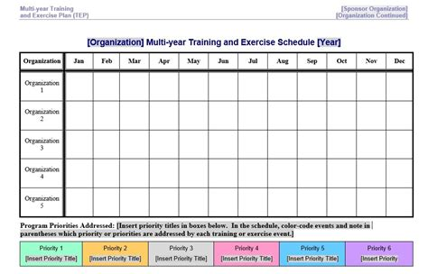 hseep templates 8 free sle exercise schedule templates printable sles