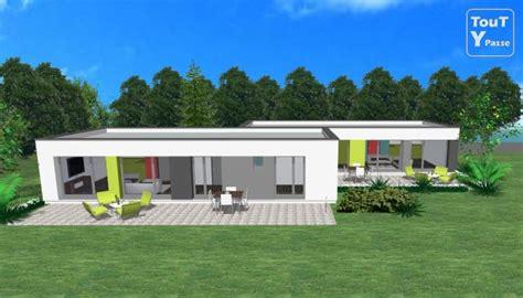 plan de maison plain pied 4 chambres avec garage maison plain pied moderne en u