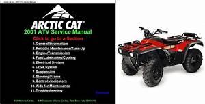 2001 Arctic Cat Atv Service Repair Workshop Manual Cd