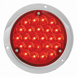 4 Inch Led Stop  Turn  Tail Light Red  Red With Housing