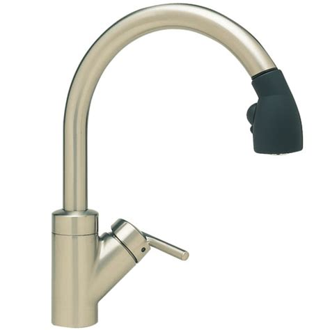 black pull out kitchen faucet b440617 rados pull out spray kitchen faucet satin nickel