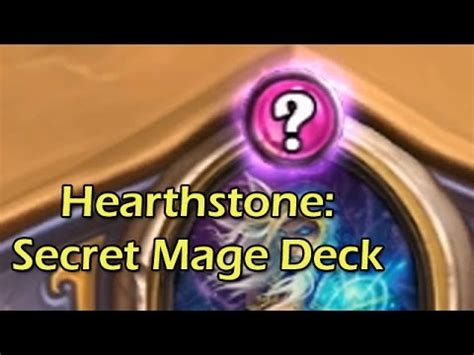 hearthstone beta secret mage deck with wowcrendor