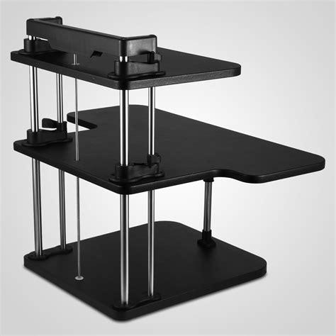 desktop standing desk 3 tier adjustable computer standing desk poles