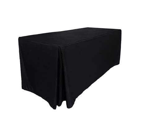 tablecloth for 8 foot rectangular table fitted tablecloths table cloths wedding white black