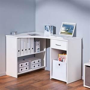 Bureau D Angle Design : bureau d 39 angle nael blanc ~ Teatrodelosmanantiales.com Idées de Décoration