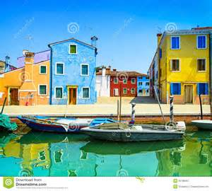 house plans mediterranean venice landmark burano island canal colorful houses and boats italy royalty free stock