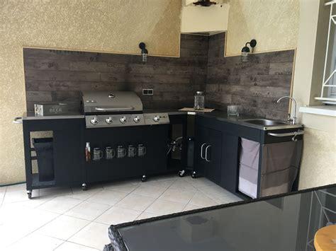 bruleur cuisine rochefort barbecue au gaz 5 brûleurs avec évier planche