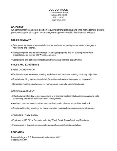 functional resume format example functional resume format