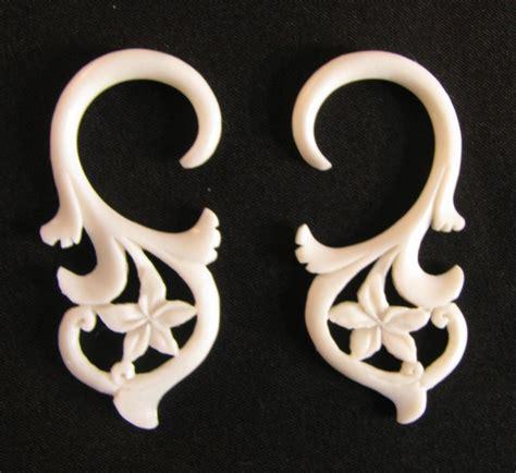 organic carved bone summer dream gauge hanging spiral
