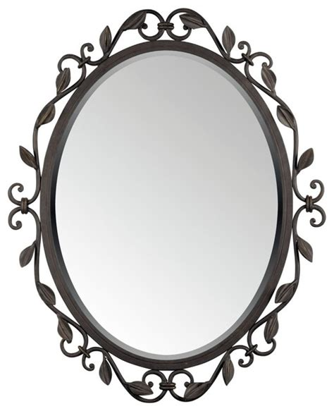 Two Sided Vanity Mirror by Quoizel Derbyshire Collection Oval 30 Quot High Wall Mirror